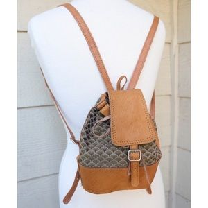 Vintage Mini Faux Leather Backpack